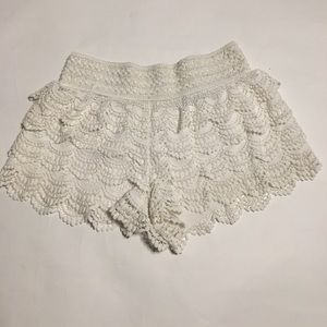 American Rag Ruffle Lace Shorts Size S